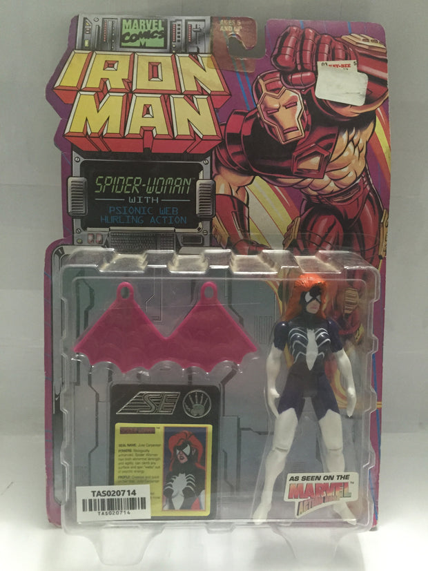 (TAS020714) - Toy Biz Marvel Iron Man - Spider-Woman with Psionic Web, , Action Figure, Spiderman, The Angry Spider Vintage Toys & Collectibles Store  - 1