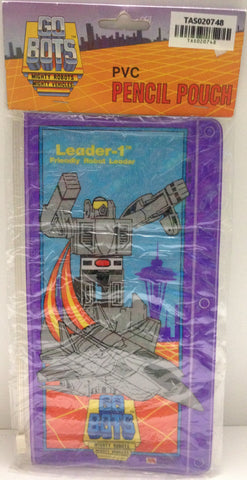 (TAS020748) - GoBots Mighty Robots PVC Pencil Pouch - Leader-1 Friendly Robot, , Pencils, n/a, The Angry Spider Vintage Toys & Collectibles Store  - 1