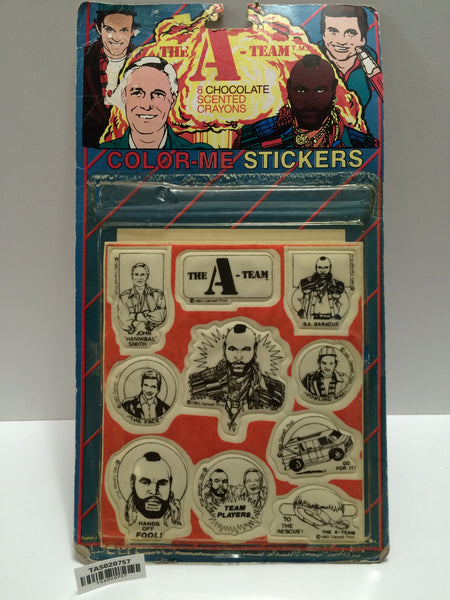 (TAS020757) - 1983 The A-Team Color-Me Stickers - Hannibal B.A. Face, , The A-Team, Diamond Toymakers, The Angry Spider Vintage Toys & Collectibles Store  - 1