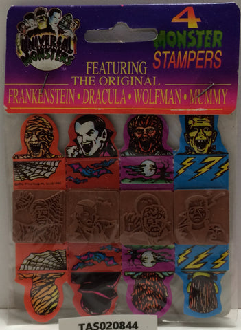 (TAS020844) - 1991 Universal Studios Monsters - Monster Stampers Mummy Wolfman, , Stampers, Universal Studios, The Angry Spider Vintage Toys & Collectibles Store  - 1
