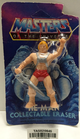 (TAS020845) - 1984 Masters of the Universe He-Man Collectable Eraser - He-Man, , Eraser, MOTU, The Angry Spider Vintage Toys & Collectibles Store  - 1