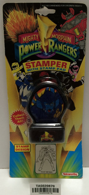 (TAS020870) - 1993 Mighty Morphin Power Rangers Stamper - Baboo, , Stampers, Power Rangers, The Angry Spider Vintage Toys & Collectibles Store  - 1