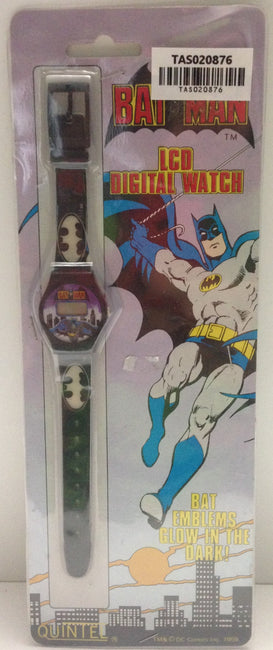 (TAS020876) - 1989 Quintel LCD Digital Watch - Batman, , Watches, Clocks, Timepieces, Batman, The Angry Spider Vintage Toys & Collectibles Store  - 1