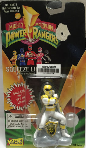 (TAS020889) - 1994  Mighty Morphin Power Rangers Squeeze Light - Yellow Ranger, , Lights & Lamps, Power Rangers, The Angry Spider Vintage Toys & Collectibles Store  - 1