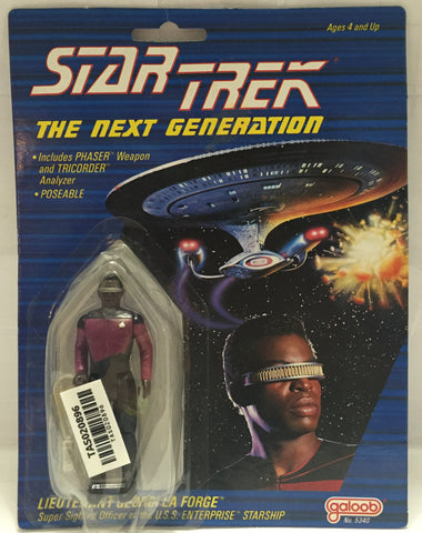 (TAS020896) - 1988 Galoob Star Trek The Next Generation - Lieutenant La Forge, , Action Figure, Star Trek, The Angry Spider Vintage Toys & Collectibles Store  - 1