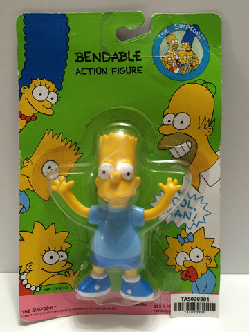 (TAS020901) - 1990 Jesco The Simpsons Bendable Action Figure - Bart Simpson, , Action Figure, The Simpsons, The Angry Spider Vintage Toys & Collectibles Store  - 1