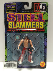 "(TAS020903) - 1999 WCW Wrestling Steel Slammers Die-Cast Randy ""Macho Man"" Savag, , Action Figure, WCW, The Angry Spider Vintage Toys & Collectibles Store"
