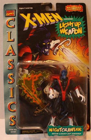 (TAS020906) - X-Men Classics Nightcrawler with Light-Up Sword Figure, , Action Figure, ToyBiz, The Angry Spider Vintage Toys & Collectibles Store  - 1