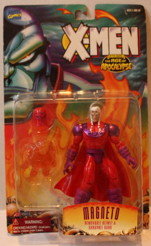 (TAS020907) - X-Men Age of Apocalypse Magneto w/Removable Helmet & Shrapnel Hand, , Action Figure, ToyBiz, The Angry Spider Vintage Toys & Collectibles Store  - 1
