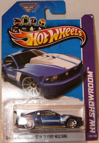 (TAS020924) - HW Showroom 2013 - Custom '12 Ford Mustang - 230/250, , Cars, Hot Wheels, The Angry Spider Vintage Toys & Collectibles Store  - 1