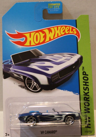 (TAS020932) - HW Workshop 2014 - '69 Camaro - 213/250, , Cars, Hot Wheels, The Angry Spider Vintage Toys & Collectibles Store  - 1
