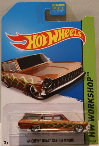(TAS020935) - HW Workshop 2014 - '64 Chevy Nova Station Wagon - 236/250, , Cars, Hot Wheels, The Angry Spider Vintage Toys & Collectibles Store  - 1