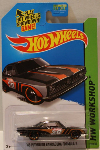 (TAS020937) - HW Workshop 2014 - '68 Plymouth Barracuda Formula S - 239/250, , Cars, Hot Wheels, The Angry Spider Vintage Toys & Collectibles Store  - 1