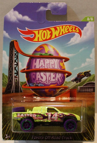 (TAS020956) - Hot Wheels Happy Easter 2014 - Toyota Off-Road Truck - 8/8, , Cars, Hot Wheels, The Angry Spider Vintage Toys & Collectibles Store  - 1