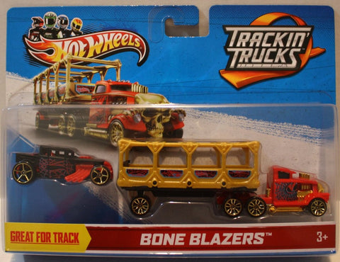 (TAS020957) - Hot Wheels 2013 Trackin' Trucks Bone Blazers Yellow, , Cars, Hot Wheels, The Angry Spider Vintage Toys & Collectibles Store  - 1