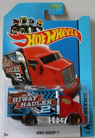 (TAS020959) - HW City 2014 - Hiway Hauler 2 - 6/250, , Cars, Hot Wheels, The Angry Spider Vintage Toys & Collectibles Store  - 1