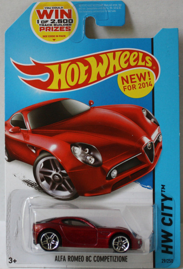 (TAS020965) - Hot Wheels City 2014 - Alfa Romeo 8C Competizione - 29/250, , Cars, Hot Wheels, The Angry Spider Vintage Toys & Collectibles Store  - 1