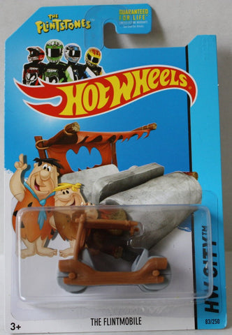 (TAS020972) - HW City 2014 - The Flintmobile - 83/250, , Cars, Hot Wheels, The Angry Spider Vintage Toys & Collectibles Store  - 1