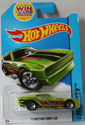 (TAS020977) - HW City 2014 - '71Mustang Funny Car - 99/250, , Cars, Hot Wheels, The Angry Spider Vintage Toys & Collectibles Store  - 1