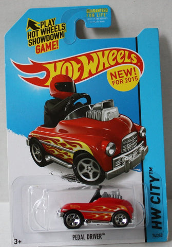 (TAS020982) - HW City 2015 - Pedal Driver - 74/250, , Cars, Hot Wheels, The Angry Spider Vintage Toys & Collectibles Store  - 1