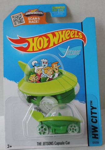(TAS020983) - HW City 2015 - The Jetsons Capsule Car - 57/250, , Cars, Hot Wheels, The Angry Spider Vintage Toys & Collectibles Store  - 1