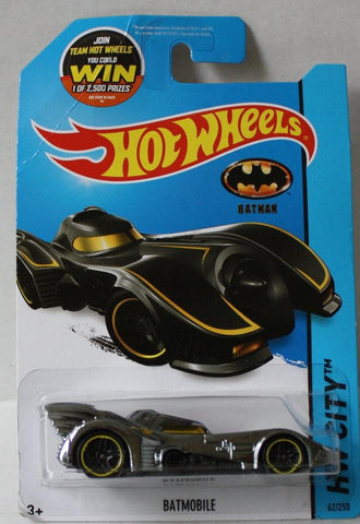 (TAS020986) - HW City 2015 - Batmobile Silver - 62/250, , Cars, Hot Wheels, The Angry Spider Vintage Toys & Collectibles Store  - 1