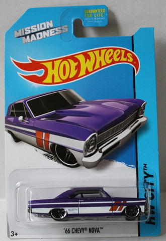 "(TAS020989) - HW City 2014 ""All Stars"" - '66 Chevy Nova - 3/4, , Cars, Hot Wheels, The Angry Spider Vintage Toys & Collectibles Store  - 1"