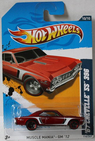 (TAS020996) - HW Muscle Mania GM '12 - '67 Chevelle SS 396, , Cars, Hot Wheels, The Angry Spider Vintage Toys & Collectibles Store  - 1