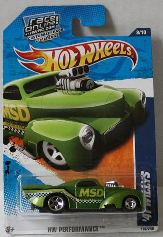 (TAS021001) - HW Performance - '41 Willys - 106/240, , Cars, Hot Wheels, The Angry Spider Vintage Toys & Collectibles Store  - 1