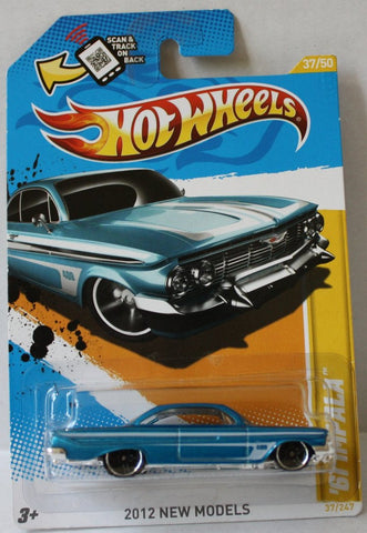 (TAS021009) - 2012 HW Premiere - '61 Impala - 37/247, , Cars, Hot Wheels, The Angry Spider Vintage Toys & Collectibles Store  - 1