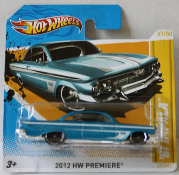 (TAS021010) - 2012 HW Premiere - '61 Impala - 37/247, , Cars, Hot Wheels, The Angry Spider Vintage Toys & Collectibles Store  - 1