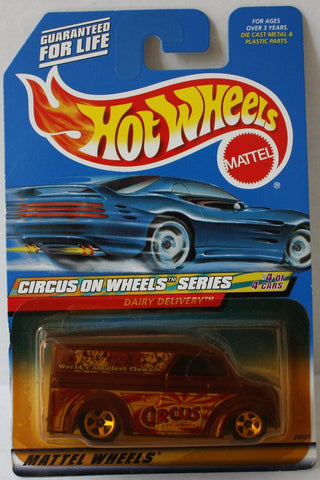 (TAS021026) - HW Circus On Wheels Series - Dairy Delivery - 4/4, , Cars, Hot Wheels, The Angry Spider Vintage Toys & Collectibles Store  - 1