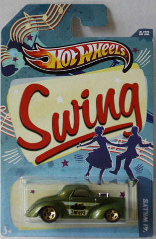 (TAS021030) - HW Jukebox Swing - '41 Willys - 5/32, , Cars, Hot Wheels, The Angry Spider Vintage Toys & Collectibles Store  - 1
