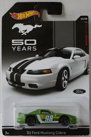 (TAS021036) - Hot Wheels 50 Years - '03 Ford Mustang Cobra - 05/08, , Cars, Hot Wheels, The Angry Spider Vintage Toys & Collectibles Store  - 1