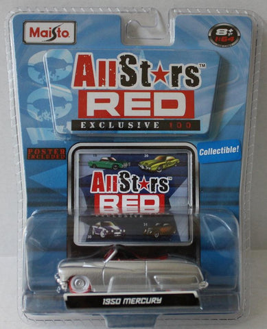 (TAS021048) - 2008 Maisto All Stars Red - 1950 Mercury 1:64 Scale, , Cars, Maisto, The Angry Spider Vintage Toys & Collectibles Store  - 1