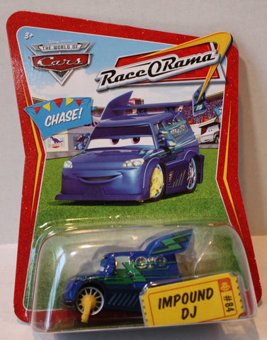 (TAS021056) - Disney/Pixar CARS Race-O-Rama Series Impound DJ #84, , Cars, Mattel, The Angry Spider Vintage Toys & Collectibles Store  - 1
