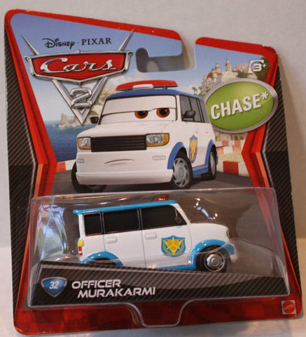 (TAS021059) - Disney/Pixar CARS2 Chase - Officer Murakarmi, , Cars, Mattel, The Angry Spider Vintage Toys & Collectibles Store  - 1