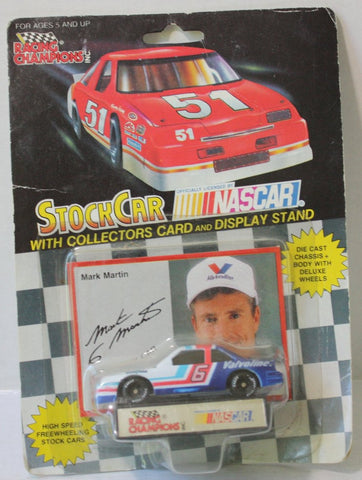 (TAS021068) - Racing Champions Stock Car w/Collectors Card - Mark Martin, , Cars, Racing Champions, The Angry Spider Vintage Toys & Collectibles Store  - 1