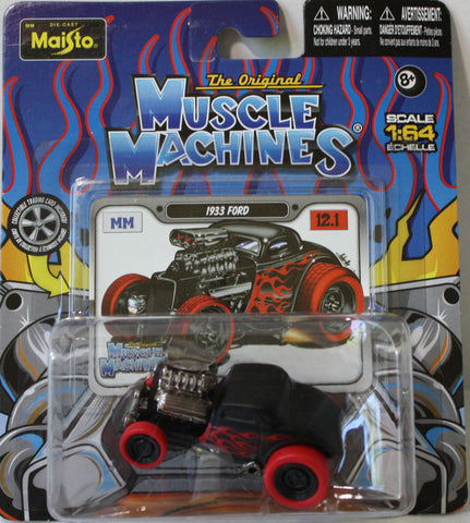 (TAS021071) - Maisto Muscle Machines - 1933 Ford, , Cars, Maisto, The Angry Spider Vintage Toys & Collectibles Store  - 1