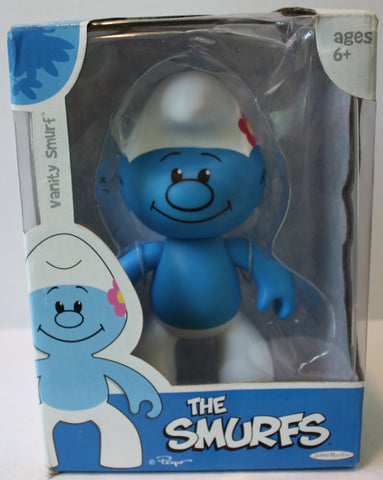"(TAS021080) - The Smurfs ""Vanity Smurf"" Collectible Figurine, , Action Figure, JAKKS Pacific, The Angry Spider Vintage Toys & Collectibles Store  - 1"