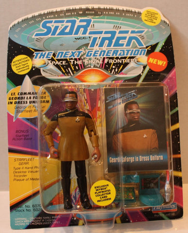 "(TAS021088) - Star Trek Next Generation ""Lt. Commander Geordi la Forge"", , Action Figure, Playmates, The Angry Spider Vintage Toys & Collectibles Store  - 1"