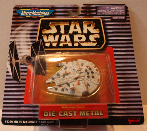 "(TAS021096) - MicroMachines Star Wars ""Millennium Falcon"" Die Cast Metal, , Action Figure, Micro Machines, The Angry Spider Vintage Toys & Collectibles Store  - 1"