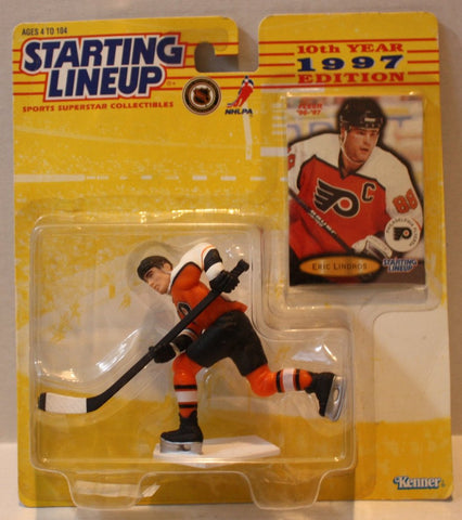 "(TAS021100) - Starting Lineup 1997 10th Year Edition ""Eric Lindros"", , Action Figure, Starting Lineup, The Angry Spider Vintage Toys & Collectibles Store  - 1"