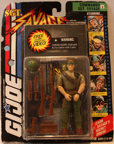 "(TAS021105) - GI Joe ""Sgt. Savage"" with Animated Video ""Old Soldiers Never Die"", , Action Figure, G.I. Joe, The Angry Spider Vintage Toys & Collectibles Store  - 1"