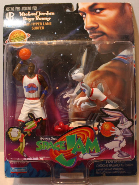 (TAS021109) - Space Jam Michael Jordan & Bugs Bunny w/Hyper Lane Surfer, , Action Figure, Playmates, The Angry Spider Vintage Toys & Collectibles Store  - 1
