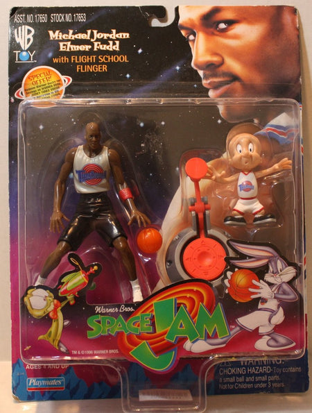 (TAS021111) - Space Jam Michael Jordan & Elmer Fudd w/Flight School Flinger, , Action Figure, Playmates, The Angry Spider Vintage Toys & Collectibles Store  - 1