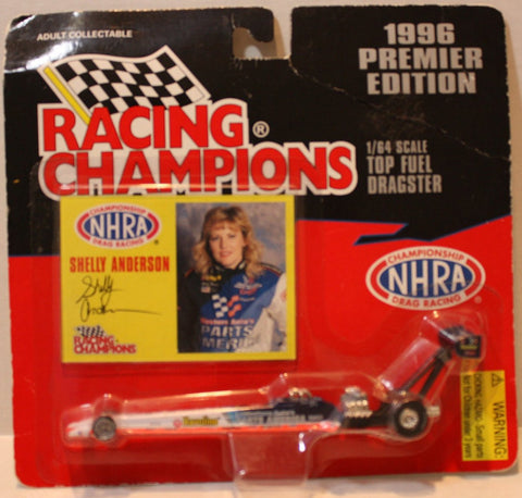 (TAS021116) - NHRA Racing Champions Shelly Anderson 1996 Premier Edition, , Action Figure, Racing Champions, The Angry Spider Vintage Toys & Collectibles Store  - 1