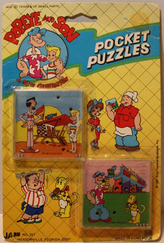 (TAS021119) - JA-RU Popeye and Son Pocket Puzzles, , Puzzle, JA-RU, The Angry Spider Vintage Toys & Collectibles Store  - 1