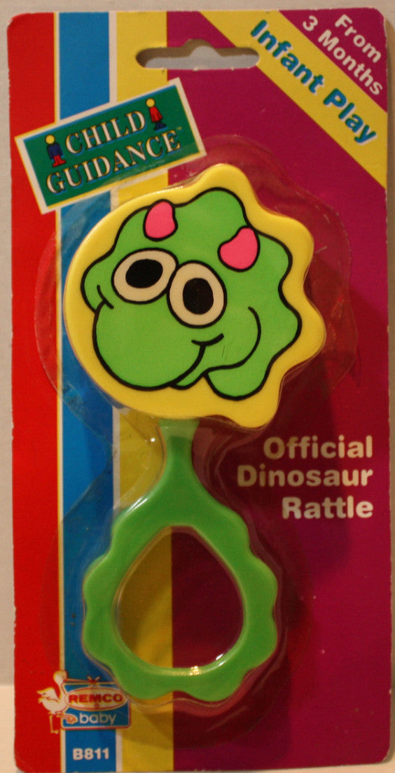 (TAS021121) - Remco Baby Dinosaur Rattle Infant Play, , Action Figure, Remco, The Angry Spider Vintage Toys & Collectibles Store  - 1
