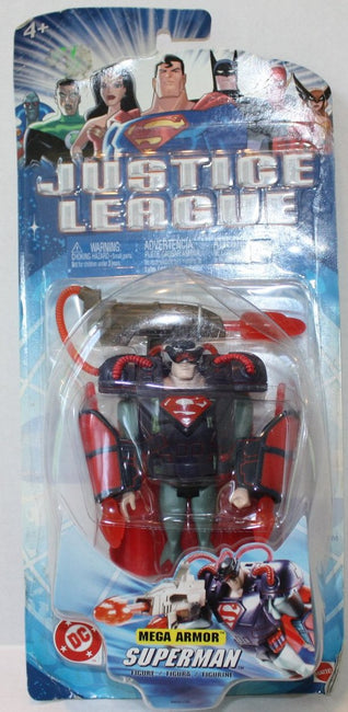 (TAS021129) - DC Justice League Mega Armor Superman, , Action Figure, Mattel, The Angry Spider Vintage Toys & Collectibles Store  - 1